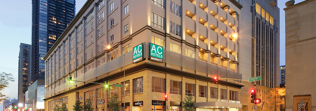 AC Hotel in downtown Chicago, IL, which is a construction project from Tri-North Builders.