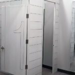 A Burlington store built by Tri-North features crisp white dressing rooms.