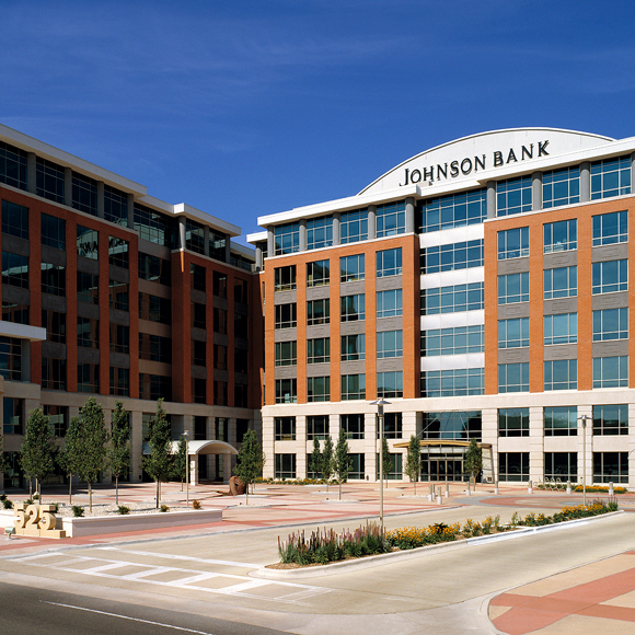 Johnson Bank building at the Tri-North Builders construction project for CIty Center West in Madison, WI.