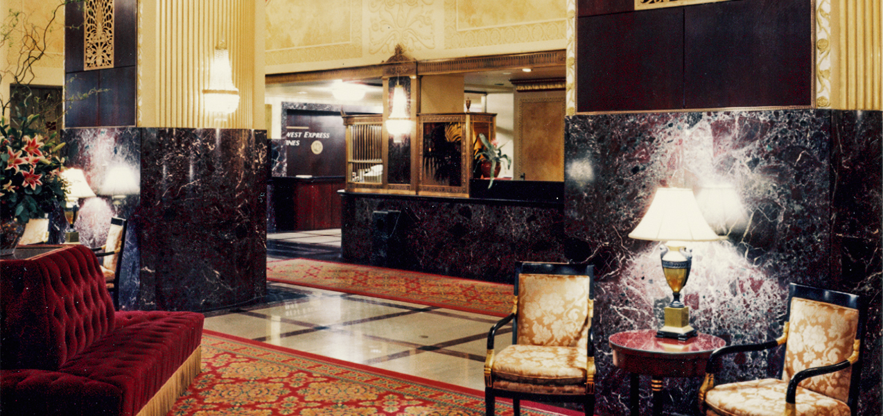 Tri-North Builders remodeled lobby area for the downtown Milwaukee Hilton City Center hotel.
