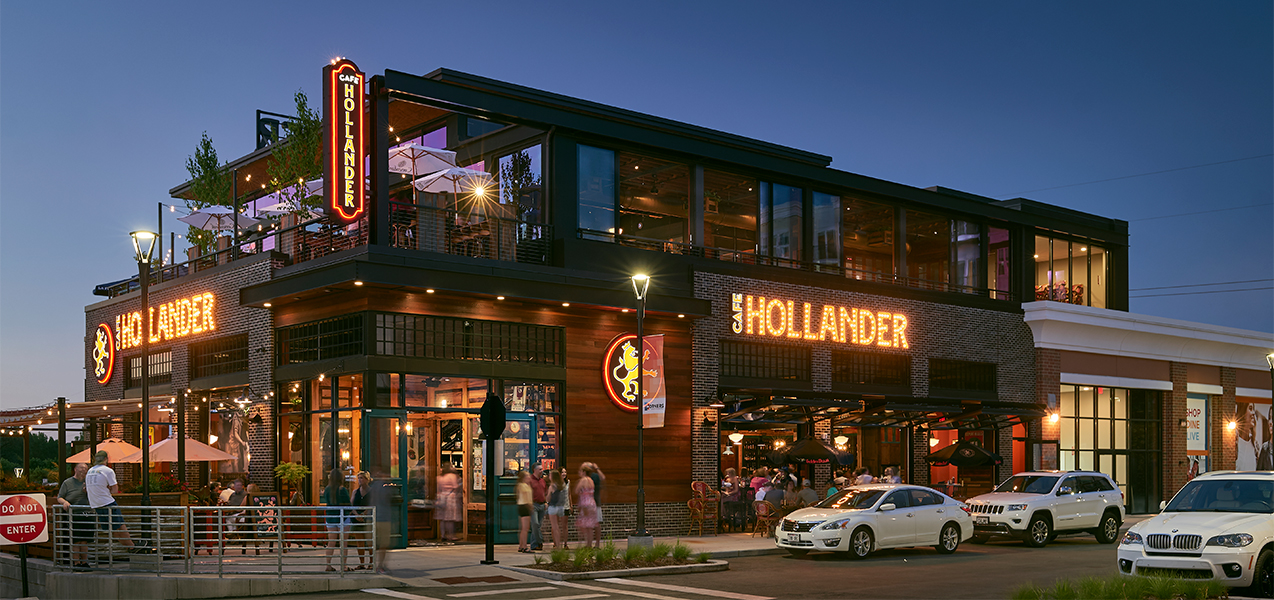 Cafe Hollander full building remodel project by Tri-North Builders in Wisconsin.