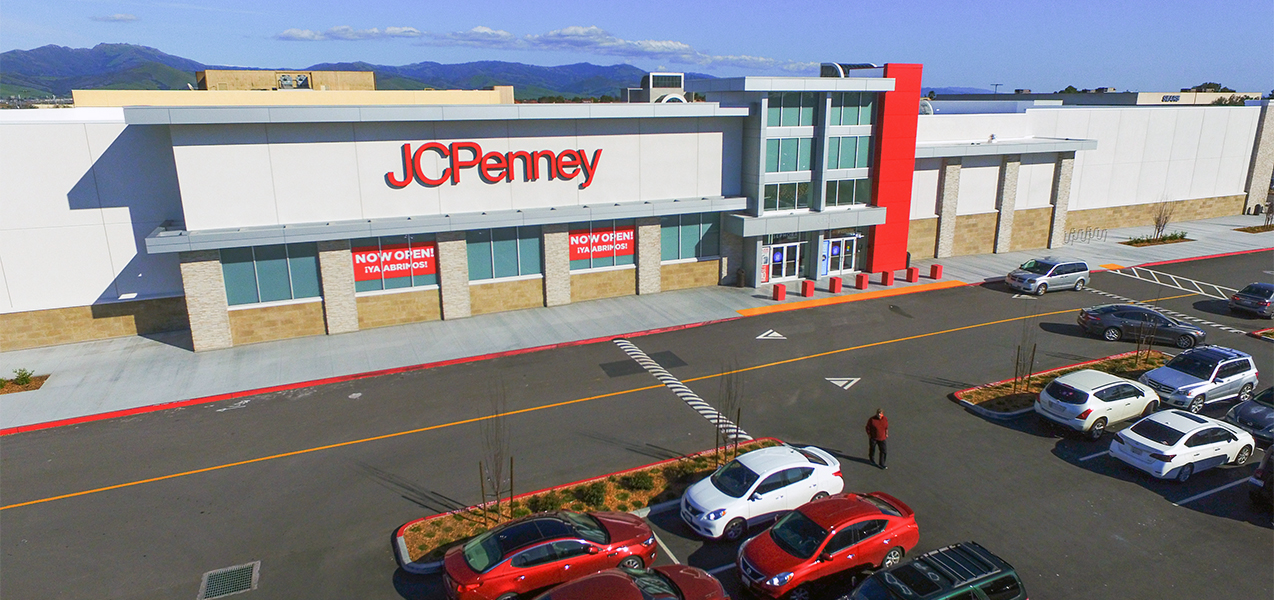 The front of a JCPenney store location, a Tri-North project.