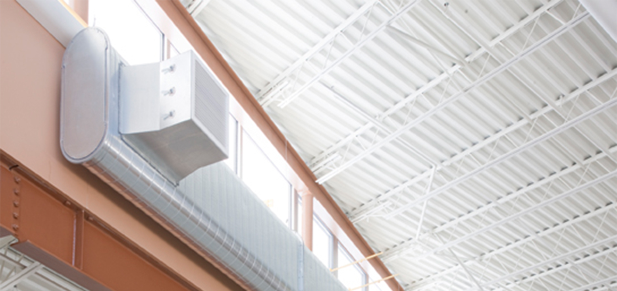 Windows, lighting, ceiling and vents for Tri-North's Lussier Community Education Center project.