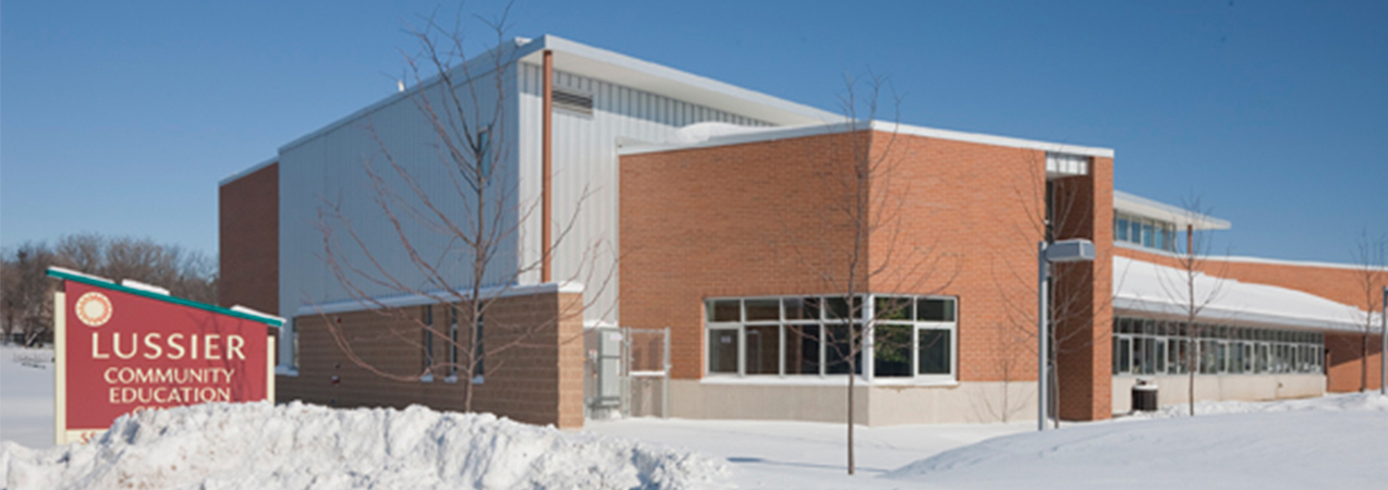 Exterior of Lussier Community Education Center in Madison