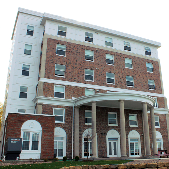 Exterior of the Sigma Alpha Epsilon building remodeled by Tri-North Builders.