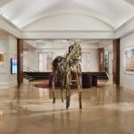 Reception and newly remodeled lobby by the Tri-North Builders at the Saint Kate hotel in Milwaukee.