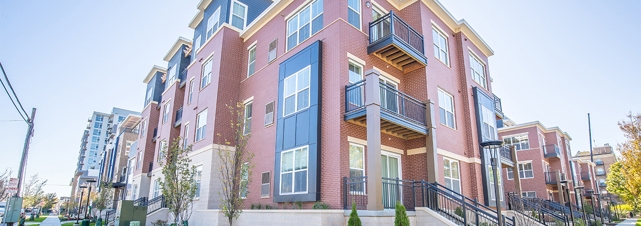 Exterior of the apartment buildings at Veritas Village in Madison which was a Tri-North Builders project.