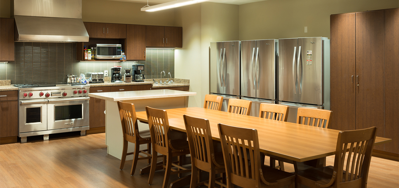 Tri-North Builder's remodeled Verona, WI, fire deparment dining area and kitchen.
