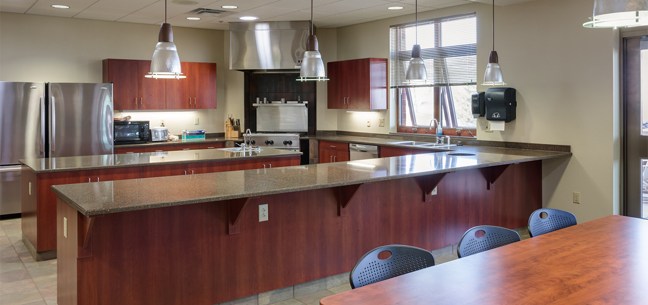Tri-North Builder's remodeled kitchen and dining areas at Waukesha Fire Department.