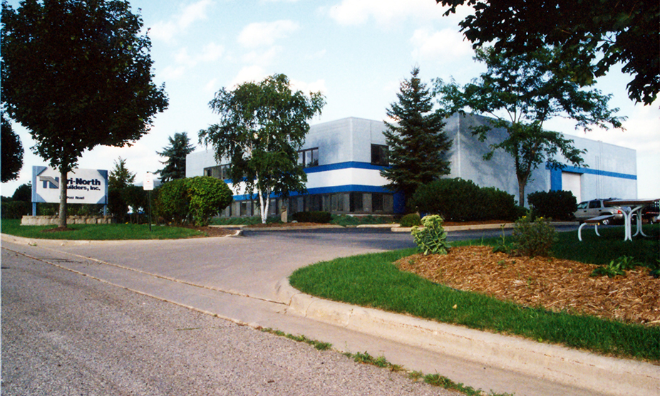 A view of the Tri-North Builders headquarters in Wisconsin, which opened in the 1990's.