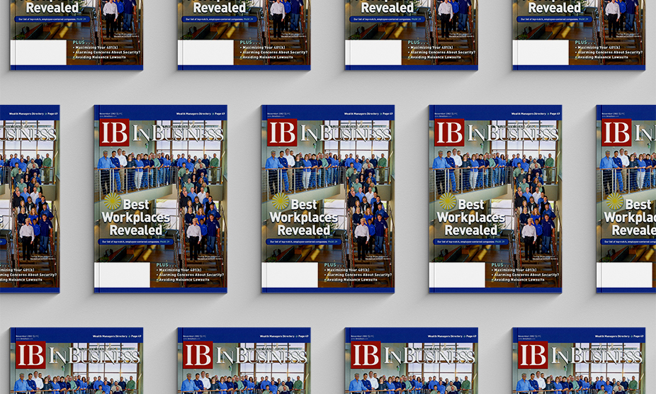 Many copies of an issue of Business Magazine feature Tri-North on the cover in 2012.