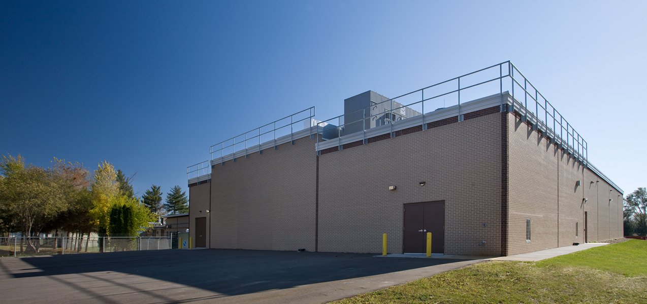 A large parking area is adjacent to the back of the Danisco building built by Tri-North.